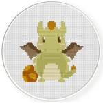 Cute Dragon Cross Stitch Illustration