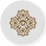 Damask Design Pattern 14 Cross Stitch Illustration