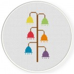 Flower Bells Cross Stitch Illustration
