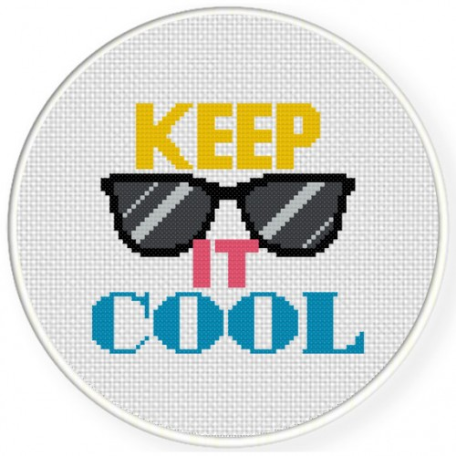 Keep It Cool Cross Stitch Illustration