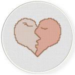 Kiss of Love Cross Stitch Illustration