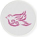 Majestic Bird Cross Stitch Illustration