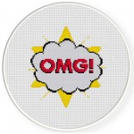 OMG Cross Stitch Illustration