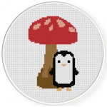 Penguin Dwarf Cross Stitch Illustration