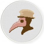 Plague Doctor Cross Stitch Illustration