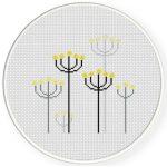Pretty Dandelions Cross Stitch Illustration