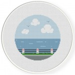 Sea View Cross Stitch Illustration