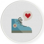 Shoes Is Heart Cross Stitch Illustration
