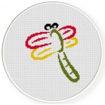 Simple Dragonfly Cross Stitch Illustration
