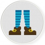 Socks And Shoes Cross Stitch Illustration