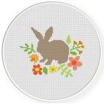 Spring Bunny Cross Stitch Illustration