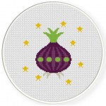 UFO Onion Cross Stitch Illustration