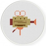 Video Cam Cross Stitch Illustration