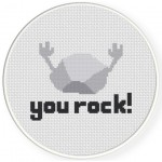 You Rock! Cross Stitch Illustration