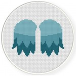 Angel Wings Cross Stitch Illustration