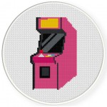 Arcade Cabinet Cross Stitch Illustration