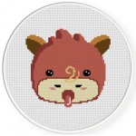 Cute Baby Costume Cross Stitch Illustration