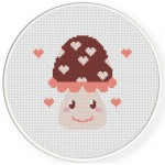 Cute Mushroom Cross Stitch Illustration