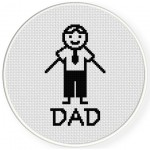 Doodle Dad Cross Stitch Illustration