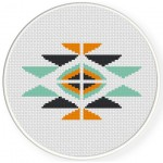 Ethnic Symbol Cross Stitch Illustration