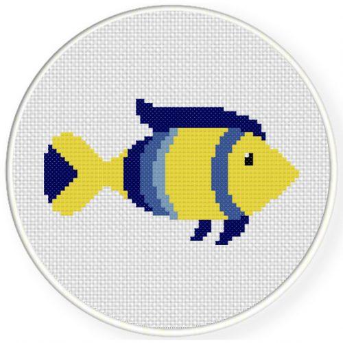 charts club members only  fish cross stitch pattern