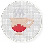 Hot Tea Cross Stitch Illustration