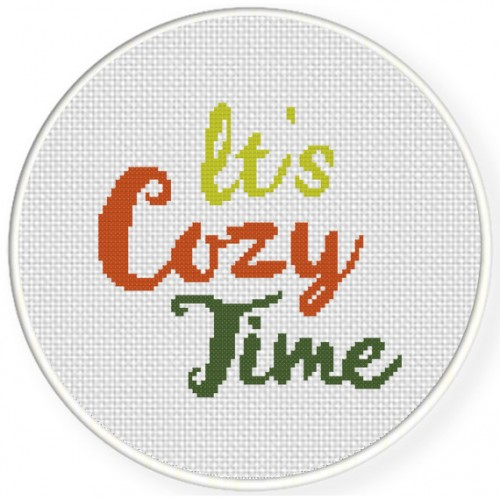 It's Cozy Time Cross Stitch Illustration