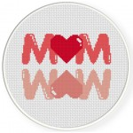 MOM Cross Stitch Illustration