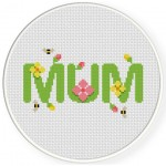Mum Cross Stitch Illustration