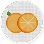 Orange Slice Cross Stitch Illustration
