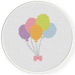 Pastel Balloons Cross Stitch Illustration