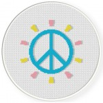 Peace Sign Cross Stitch Illustration