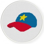 Star Cap Cross Stitch Illustration