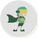 Super Kid Cross Stitch Illustration