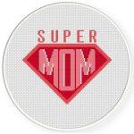 Supermom Cross Stitch Illustration