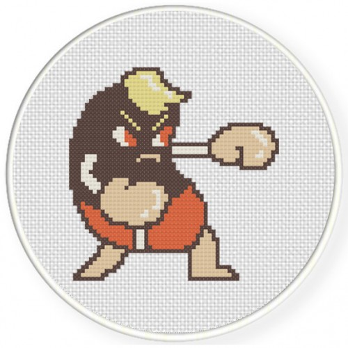 The Boxer Cross Stitch Illustration