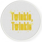 Twinkle Twinkle Cross Stitch Illustration