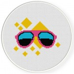 80's Sunglasses Cross Stitch Illustration