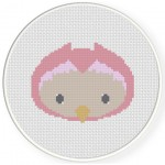 Adorable Baby Owl Cross Stitch Illustration