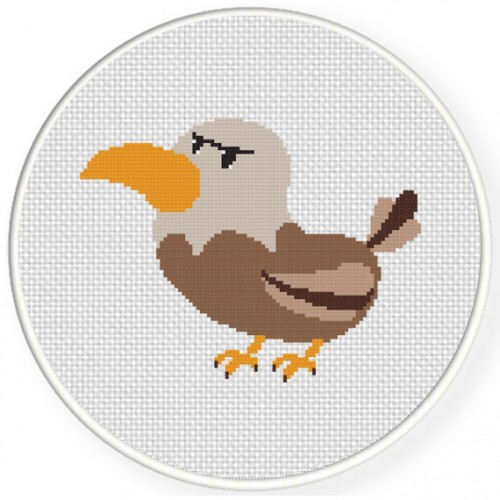 Angry Bird Cross Stitch Illustration