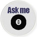 Ask Me Cross Stitch Illustration