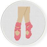 Ballet Shoes Cross Stitch Illustration
