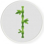 Bamboo Cross Stitch Illustration