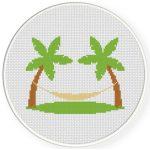 Beach Hammock Cross Stitch Illustration