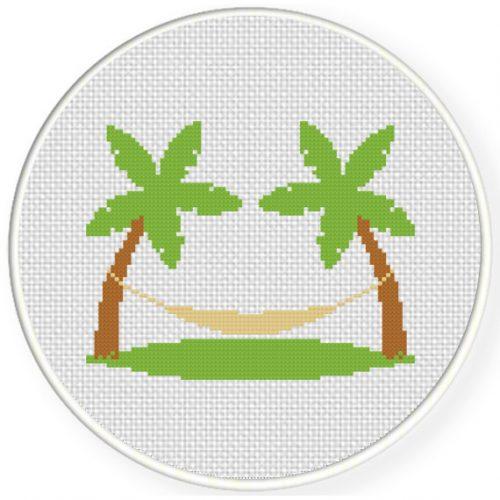 charts club members only  beach hammock cross stitch
