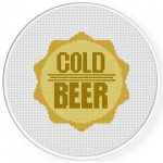 Beer Cap Cross Stitch Illustration