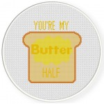 Butter Half Cross Stitch Illustration