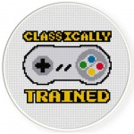Classically Trained Cross Stitch Illustration