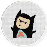 Cute Costume Boy Cross Stitch Illustration