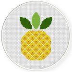 Delicious Pineapple Cross Stitch Illustration